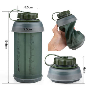 750ML Portable Outdoor Collapsible Sport TPU Soft Water Bottle Folding Kettle Water Bottle Camping Travel Running Bottle - BHsportswear.com