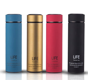 Bpa-free 500ml/17oz Insulated vacuum flasks With Tea Infuser water bottle double wall Thermals cup  steel travel thermos Botttle - BHsportswear.com