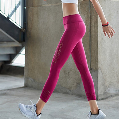 sexcer women's seamless sports capris high elastic slim yoga leggings high waist workout running tights 3/4 length sport pants - BHsportswear.com