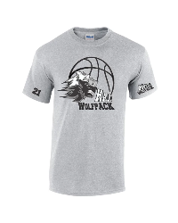 Wolf-pack t-shirt with sleeve print