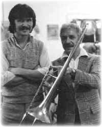 Terry Warburton with Frank Rosolino 1978
