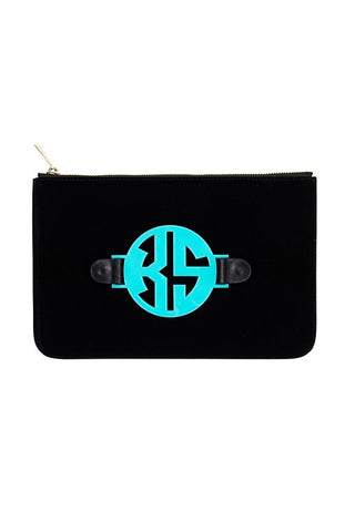 Black Velvet Harper Clutch