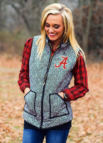 Alabama Herringbone Vest