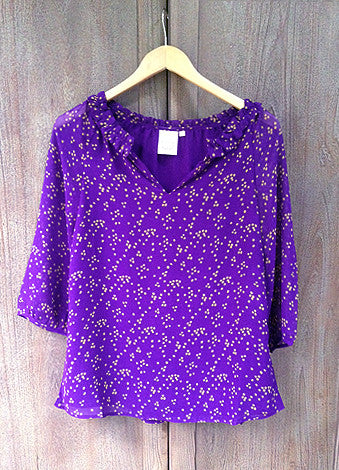 Love Purple Live Gold Tunic