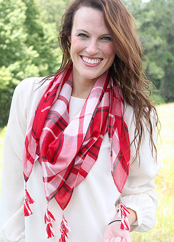 Mad Plaid-er Scarf - Red/Black