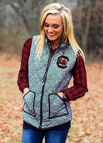 South Carolina Herringbone Vest