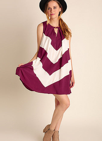 Game Time Wine Dress