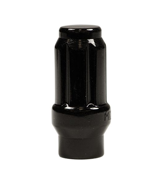 ET Black Tuner Lug Nuts with Key. Cone Seat