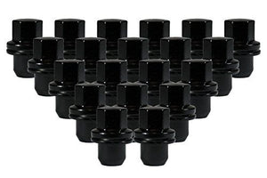OEM Style LAND ROVER/RANGE ROVER Black Lug Nuts. 22mm Hex