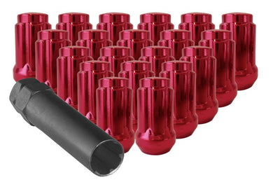 Small Red Tuner Lug Nuts with Key.