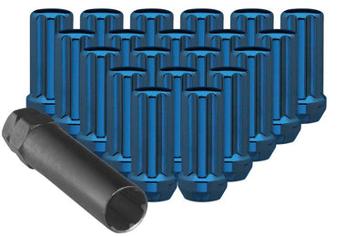 Large Blue Tuner Lug Nuts with Key