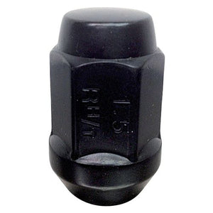 Black 19mm HEX Bulge Lug Nuts. Cone Seat