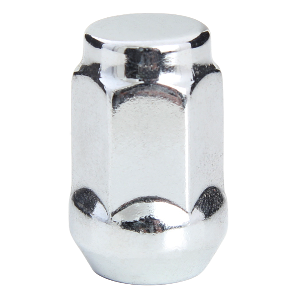 Chrome Cone Seat Nuts. 21mm Hex. 12x1.50mm