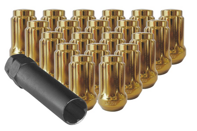 Small Gold Tuner Lug Nuts with Key