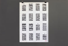 Tree of Codes Poster Signed by Jonathan Safran Foer