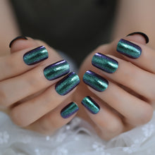 Load image into Gallery viewer, Holographic Rainbow Glitter Fake Nails  with Glue Stickers