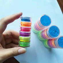 Load image into Gallery viewer, Neon Phosphor Pigment Powder Set Fluorescent Nail Glitter Eye Powder Manicure Decoration