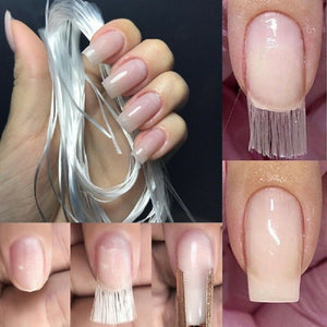 Fiber nail silk tutorials
