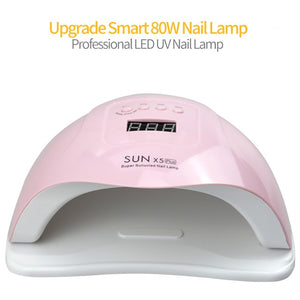 SUN X5 Plus 80W UV LED Gel Nail Lamp Quick Drying Nail Dryer Machine for Nail Curing
