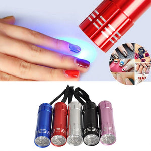 Mini 12W Flashlight Nail Fast Cure for Prime  Makeup Small Grill 30 Seconds Dryer led