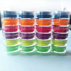 Neon Phosphor Pigment Powder Set Fluorescent Nail Glitter Eye Powder Manicure Decoration