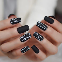Load image into Gallery viewer, French Moo Matte Square Fake Nails