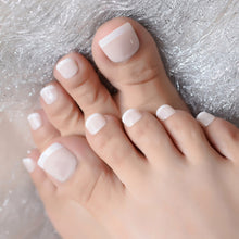 Load image into Gallery viewer, Beige White Fench Nail for Toes