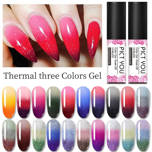 2020 New Color Changing Nail Gel (Three Colors Gel) A107