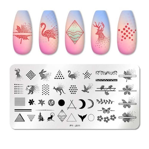 Nail Stamping Plates Line Pictures Nail Art Plate