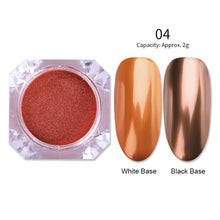 Load image into Gallery viewer, Mirror Nail Powder Rose Gold Champagne Silver Gold Chrome Nail Art