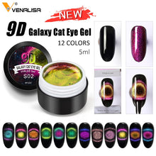 Load image into Gallery viewer, 5m 9D Gel Varnish Cat Eye Magic Chameleon Gel