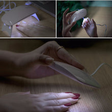 Load image into Gallery viewer, Mouse Shape UV LED Nail Lamp Home DIY UV Gel Lamp Portable USB Cable 5V Varnish Dryer Polish Dryer