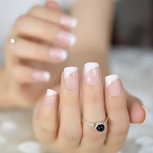 Load image into Gallery viewer, Iridescent French Nails with Glitter Beveled