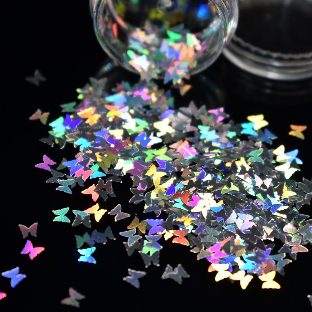 Holographic Nail Sparkle Glitter Sheets Tips