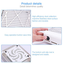 Load image into Gallery viewer, 40W New Strong Power Nail Dust Collector/Vacuum Cleaner Fan