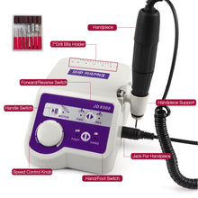Load image into Gallery viewer, 65W 35000RPM Professional Electric Nail Drill Machine
