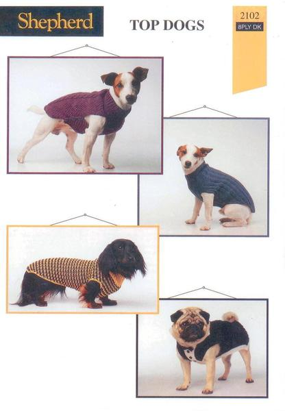 Top Dogs, Coats Knitting Patterns