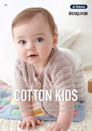 Cotton Kids Knitting Pattern Book