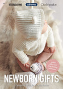 Newborn Gifts - Mixed Yarns in 4ply and 8ply Knitting Pattern Book