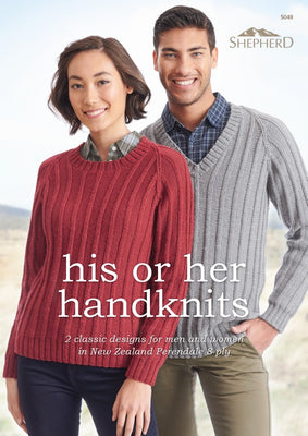 His and Her Handknits Knitting Pattern Leaflet