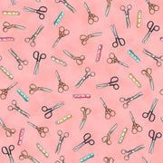 Scissors & Tapes - Pink Fabric