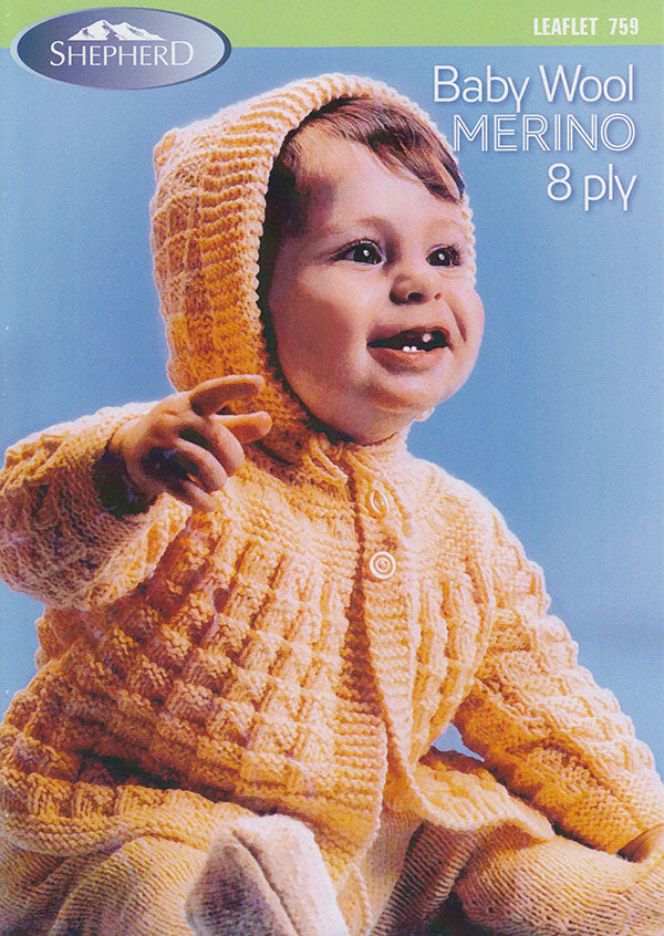 Hooded Coat and Leggings Knitting Pattern