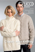 Crucci Natural 8ply His and Hers Sweaters Knitting Pattern