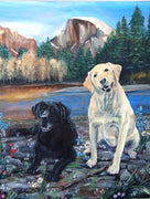 Black and Tan Labradors Cross Stitch Pattern