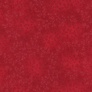 Red Cherry Leaf Fabric