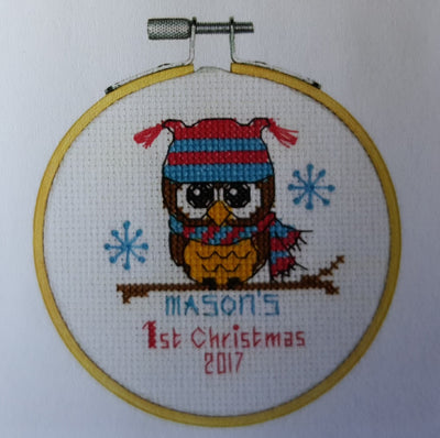 Babys First Christmas Cross Stitch Kit