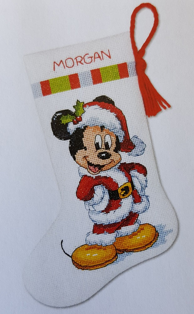 Disney Cross Stitch Christmas Stocking Patterns.Disney Christmas Stocking Cross Stitch Kit