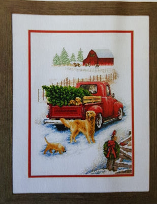 Winter Ride Cross Stitch Kit
