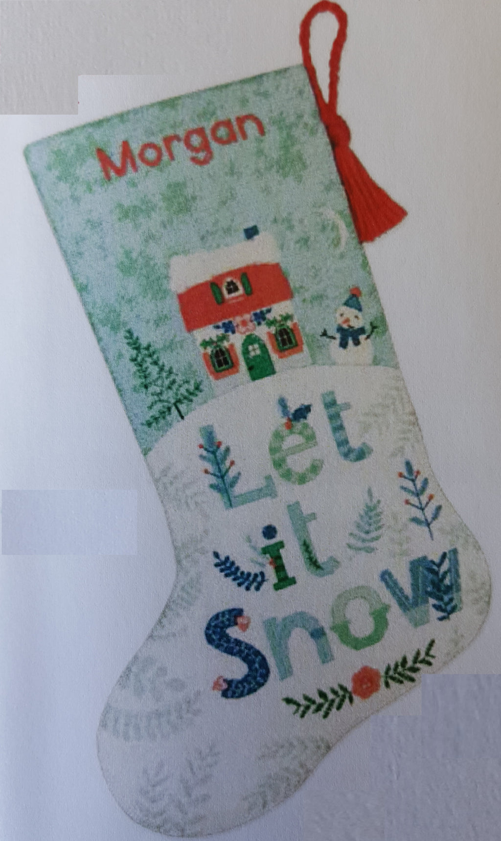 Holiday Home Stocking Counted Cross Stitch Kit