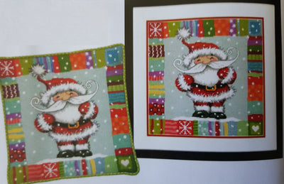 Patterned Santa Needlepoint Kit